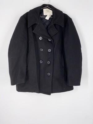 Black Wool Heavy Jacket Size L