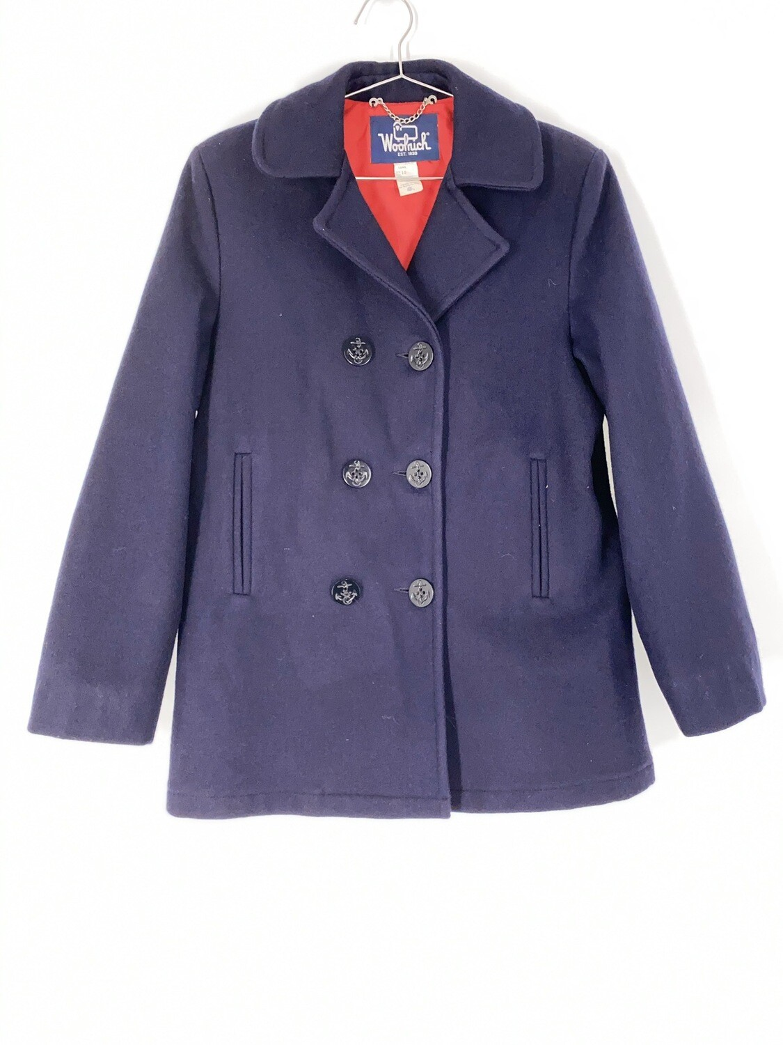 Woolrich Navy Blue Heavy Coat Size Medium