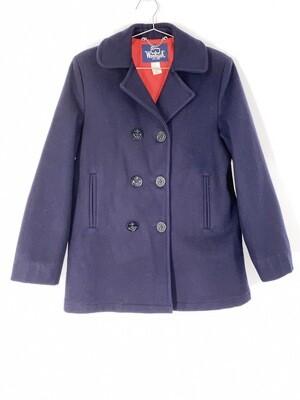 Woolrich Navy Blue Heavy Coat Size Medium