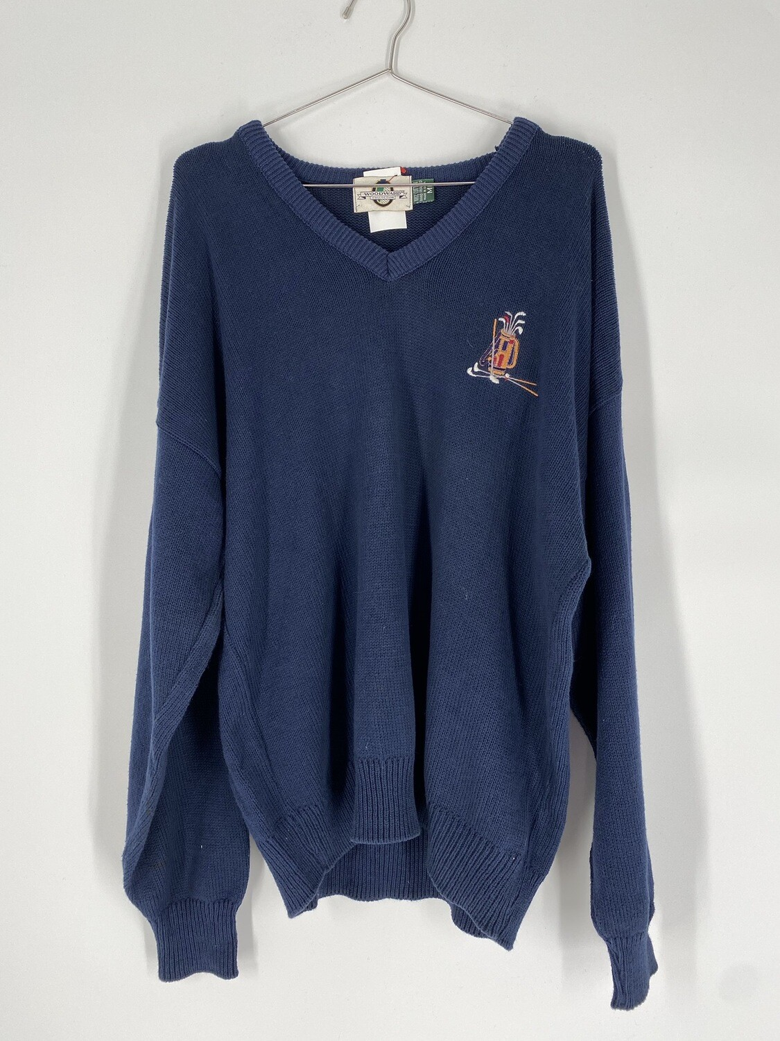 Embroidered Golf Sweater Size M