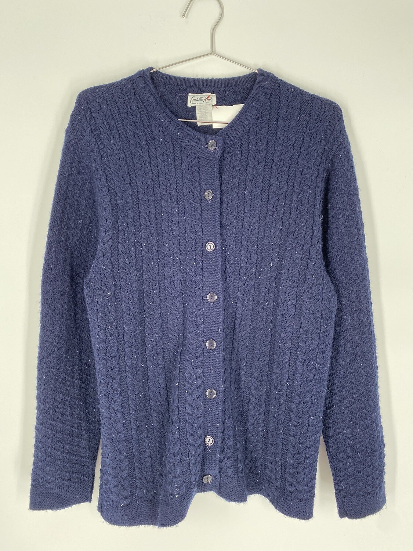 Blue Knit Cardigan Size S