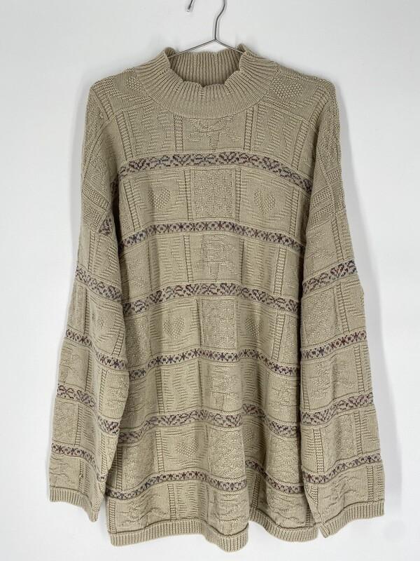 Cream Mock Neck Sweater Size L