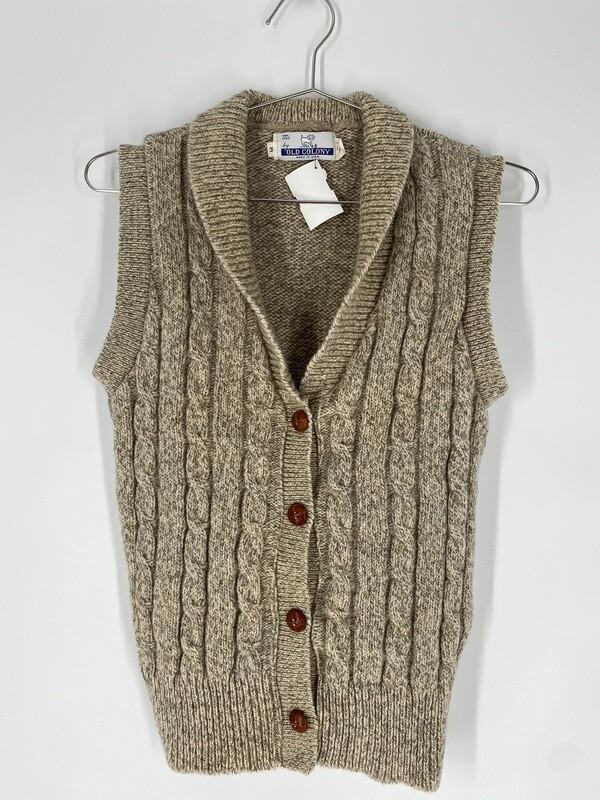 Cream Wool Vest Size S