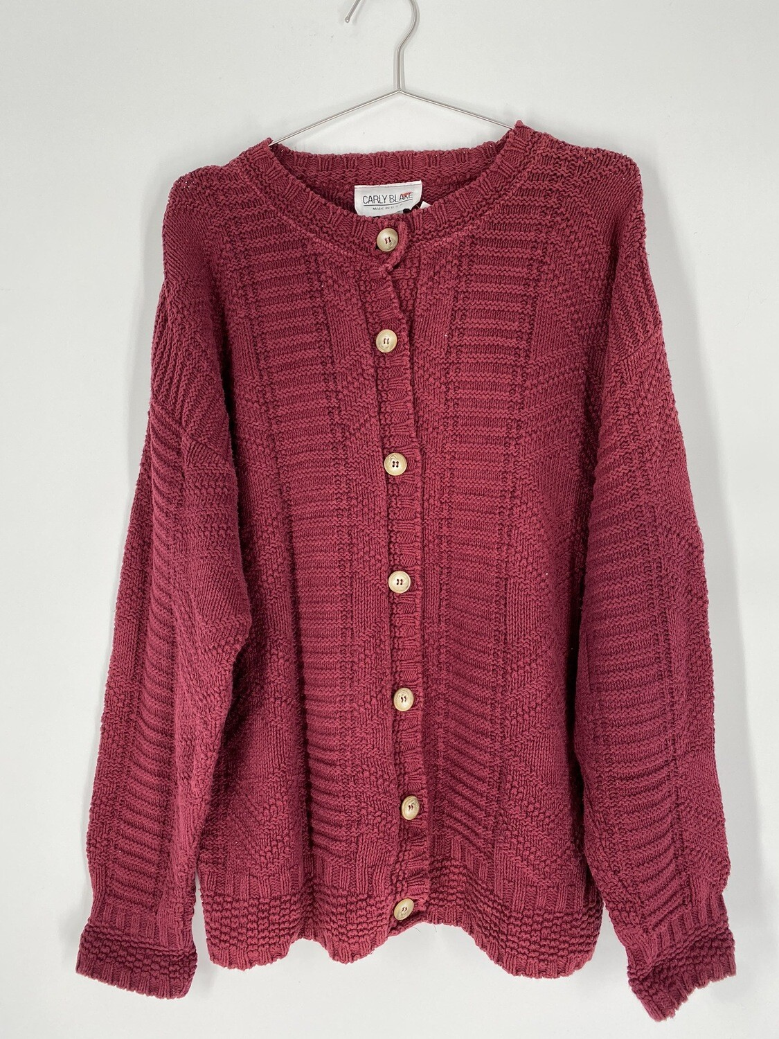 Berry Red Cardigan Size L