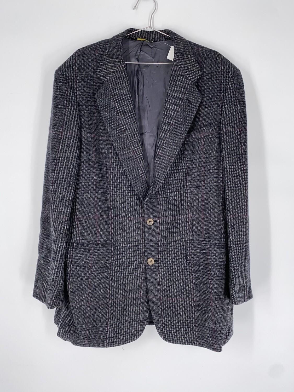 Norman Hilton Grey Plaid Blazer Size L