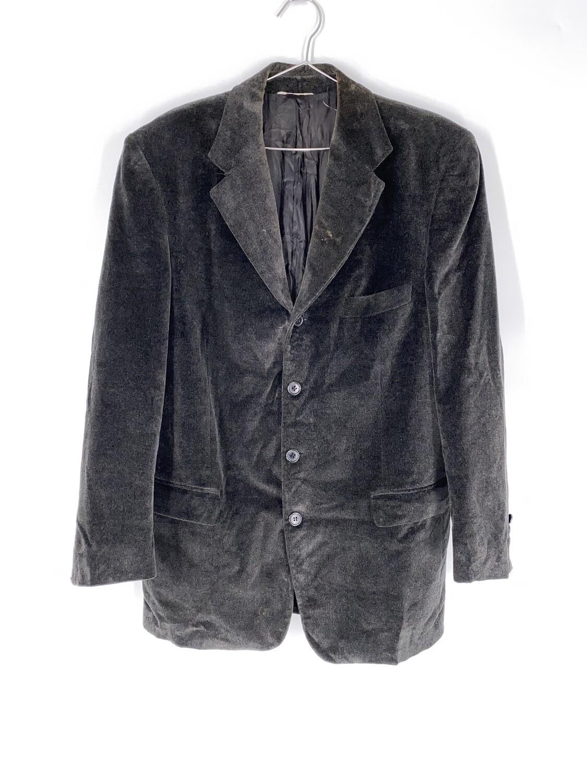 Grey Italian Velour Blazer Size M