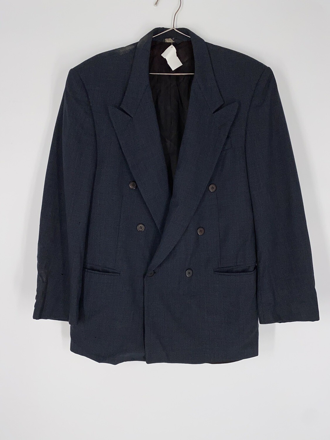 Barry Manufacturing  Blue And Black Checkered Blazer Size L