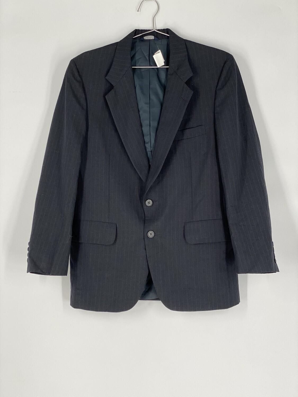 Kuppenheimer Men's Clothiers Black Pinstriped Blazer Size S