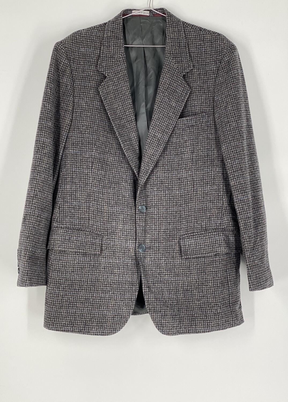 Arnie Grey Checkered Wool Blazer Size L