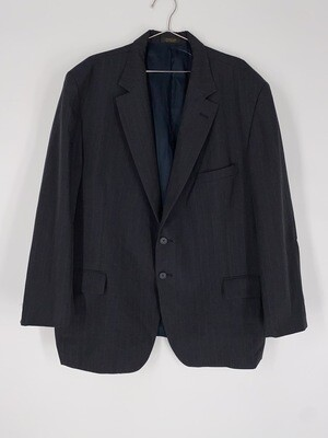 George's Apparel Red And Dark Grey Pinstripe Blazer Size L