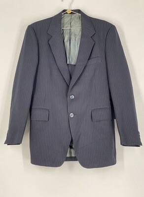 Midishade Clothes Navy Blue Pinstripe Blazer Size S
