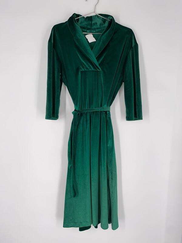 Handmade Green Velvet Dress Size Medium