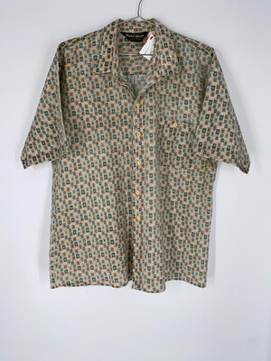 Gold Start Button Up Size Large