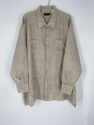 Fernando Pena Linen Button Up Size 3XL