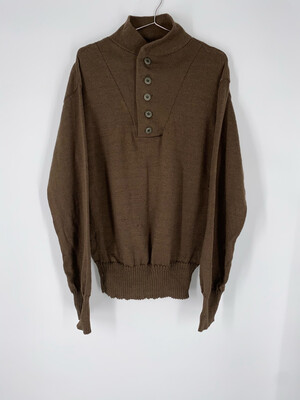 100% Wool Partial Button Up Size Large