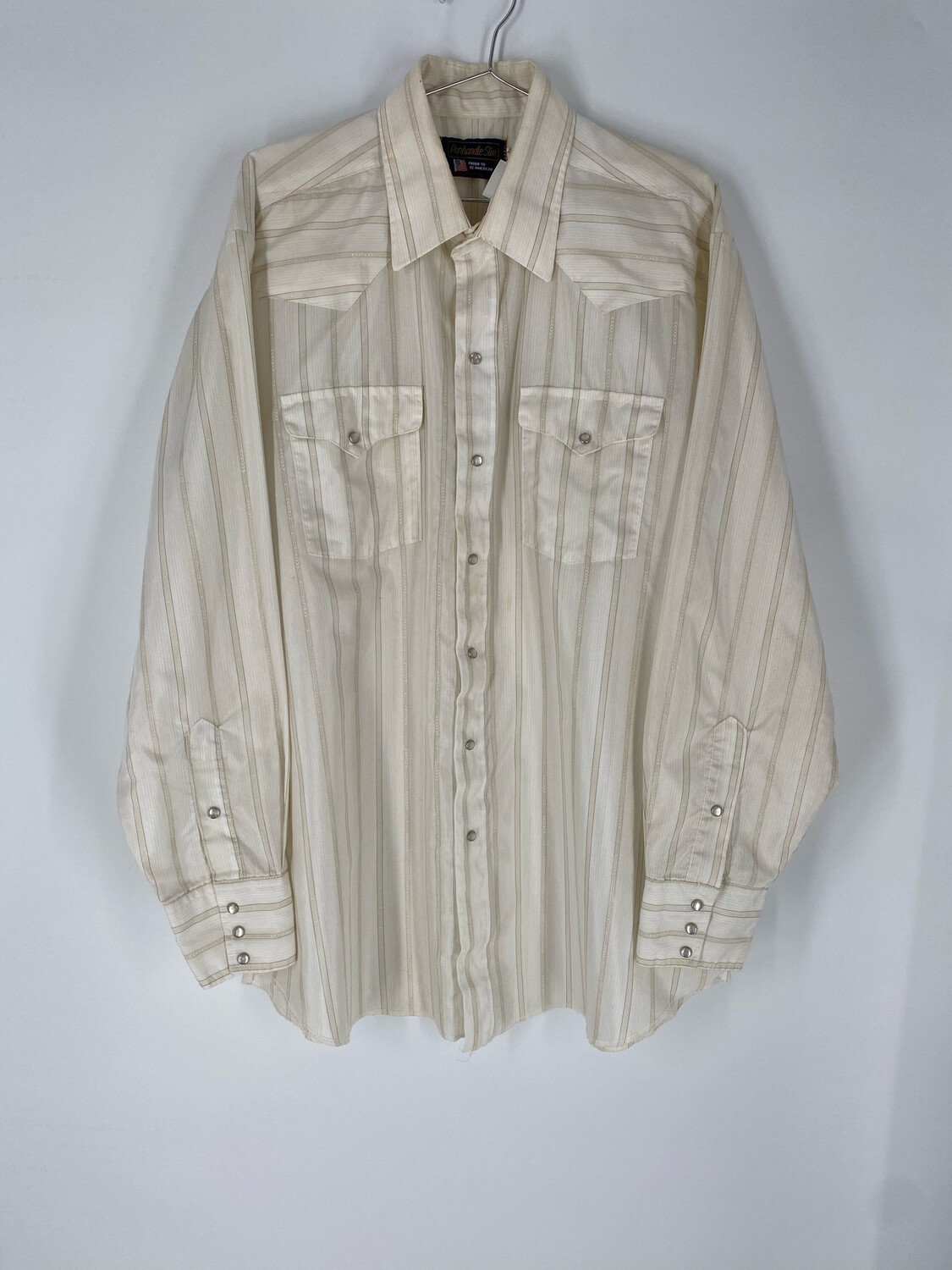 Panhandle Slim Striped Button Up Size Large