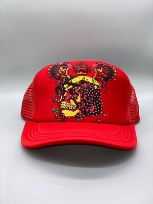 Red Y2K Trucker Hat