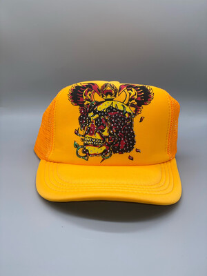 Bright Orange Y2K Trucker Hat