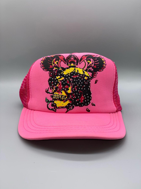 Pink Y2K Trucker Hat
