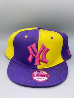 Retro Purple And Yellow New Yankees Snapback