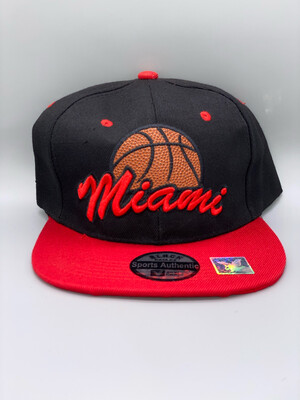 Embroidered Miami Adjustable Basketball Cap