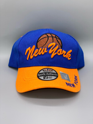 Embroidered New York Basketball Cap