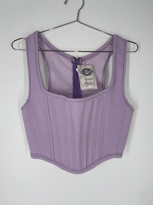 Lavender Reworked Sweatshirt Bustier Size S/M