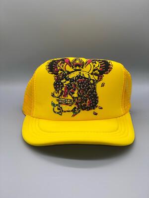 Bright Yellow Y2K Trucker Hat