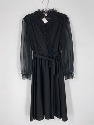 Jen-Jen New York Long Sleeve Dress With Tie Size M