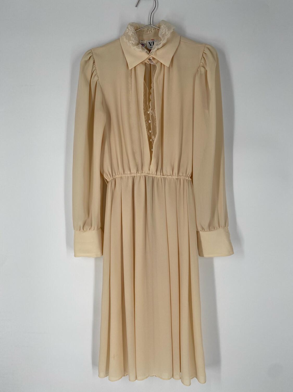 V.L.P. Petites Long Sleeve Collared Dress Size M