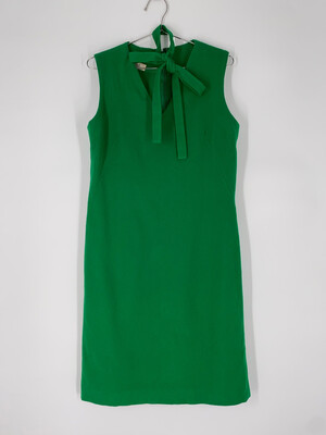 Frelich St. Louis Short Sleeve Dress With Neck-Tie Size L