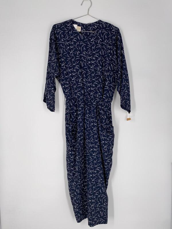 Geometric Printed Long Sleeve Dress Size L