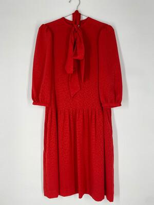 Matti Of Lynne Vintage Dress With Neck Tie Size L