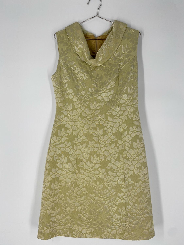 Cowl Neck Floral Sleeveless Dress Size L