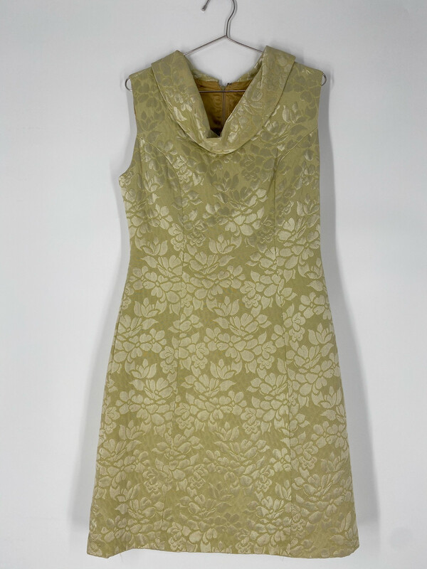 Cowl Neck Floral Sleeveless Dress Size L
