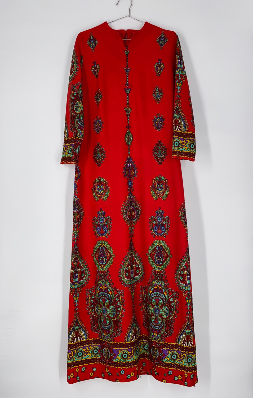 Lorac Original Patterned Maxi Dress Size L