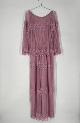 Lace Long Sleeve Maxi Dress Size S