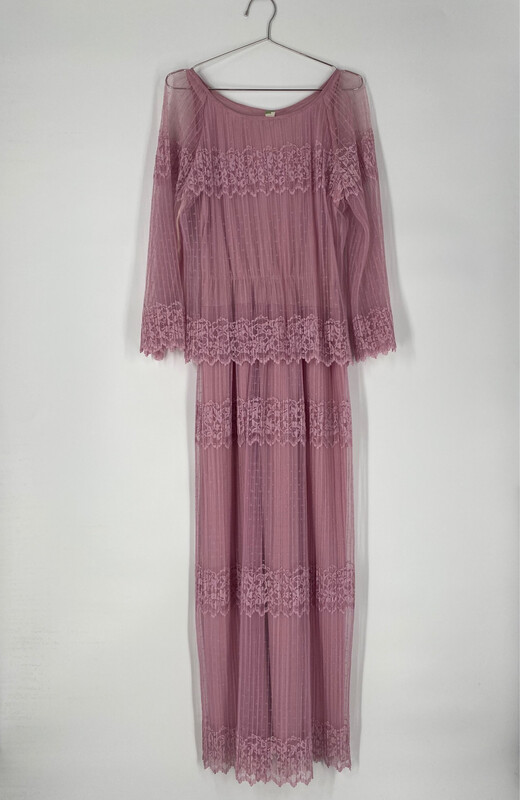 Lace Long Sleeve Maxi Dress Size S