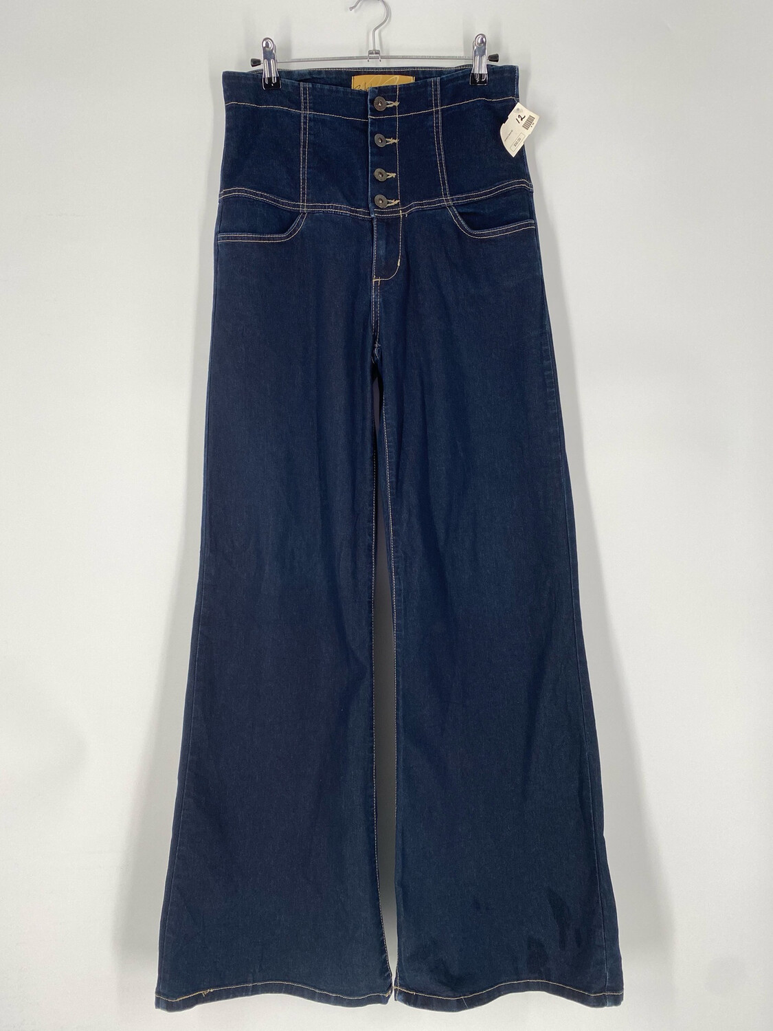 Wat Button-Up High Rise Flare Jeans Size 28