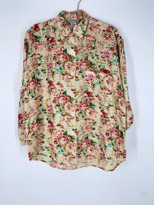 Cotton Express Beaded Button Up Size Small