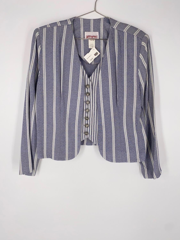 Petite Perceptions Striped Blazer Size Medium