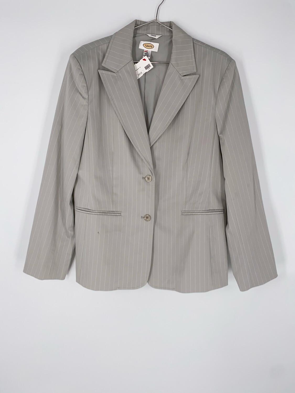 Talbots Grey Striped Blazer Size Large