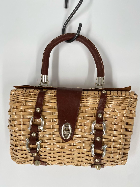 Wicker Handle Bag