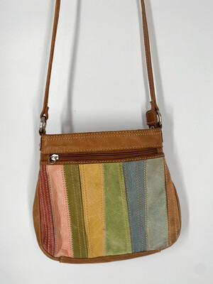 Fossil Colorful Leather Crossbody Bag
