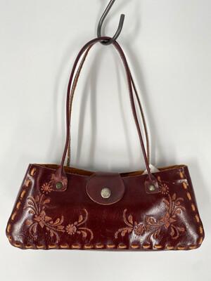 Floral Embossed Shoulder Bag
