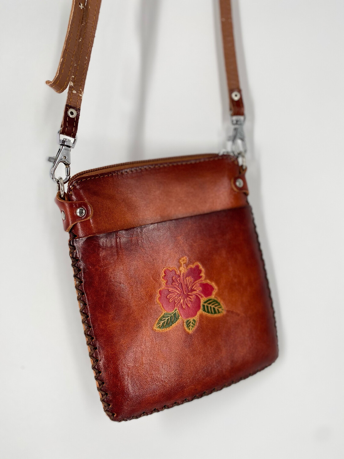 Hawaiian Embossed Floral Crossbody