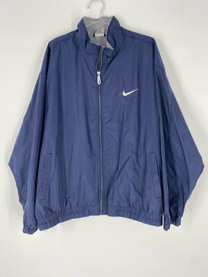 Nike Blue Embroidered Windbreaker Size XL