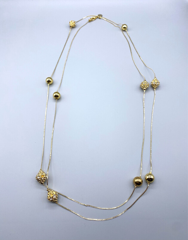 Dual Chain Gold Necklace
