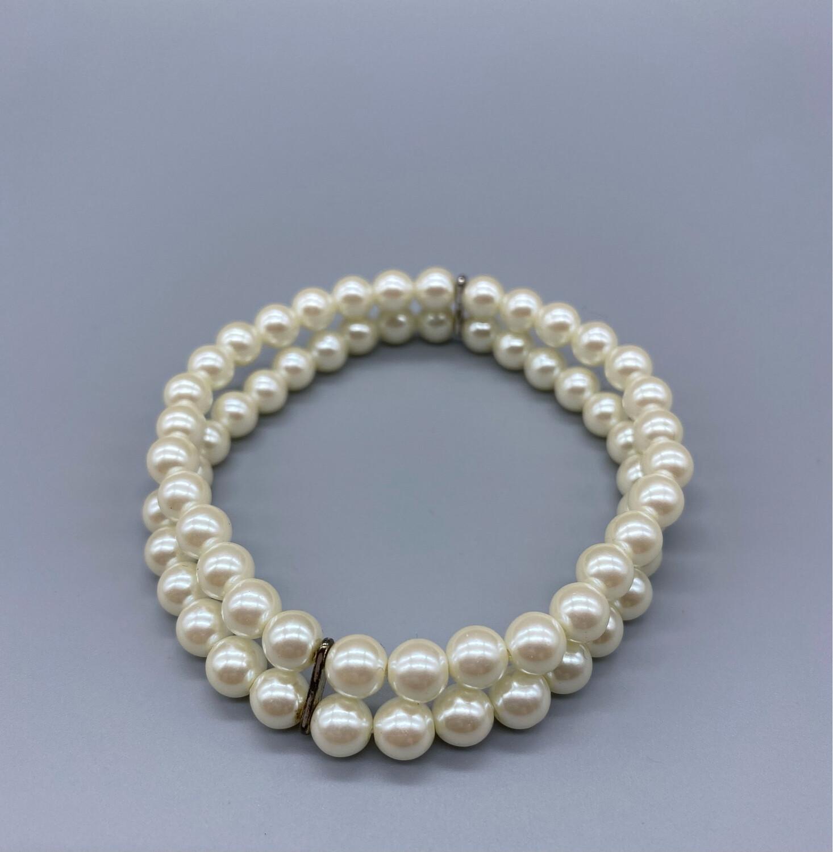 Vintage Dual Strand Pearl Bracelet