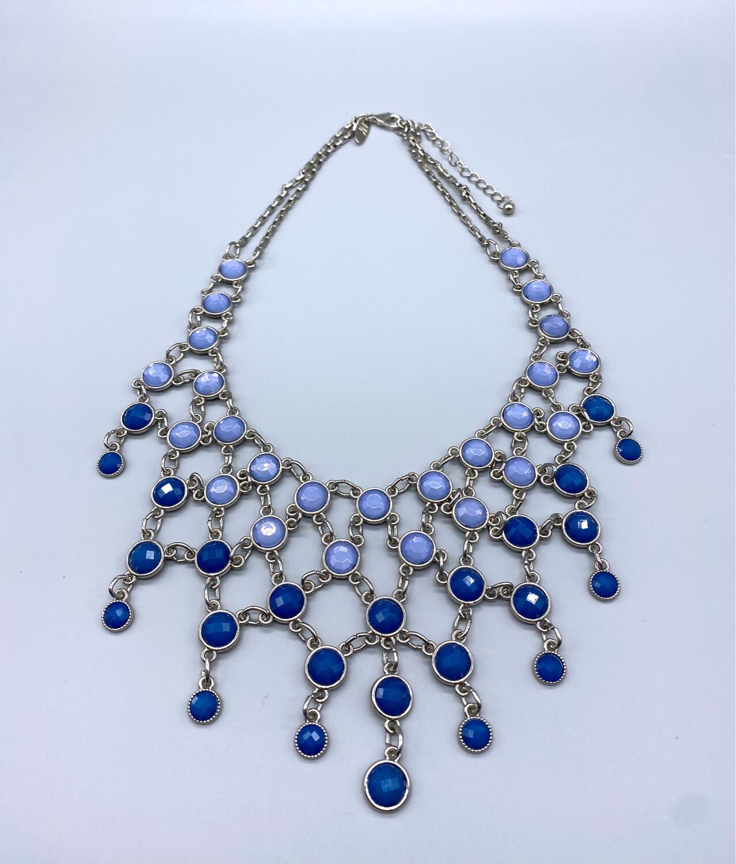 Vintage Blue Gemstone Necklace